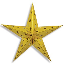 Gold Dimensional Foil Star (24 inch)