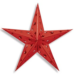 Red Dimensional Foil Star (24 inch)