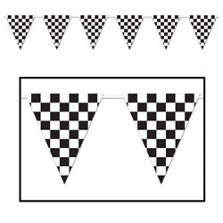 Checkered Giant Pennant Banner, 12 ft