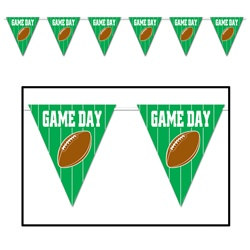 Game Day Football Giant Pennant Banner, 12 ft