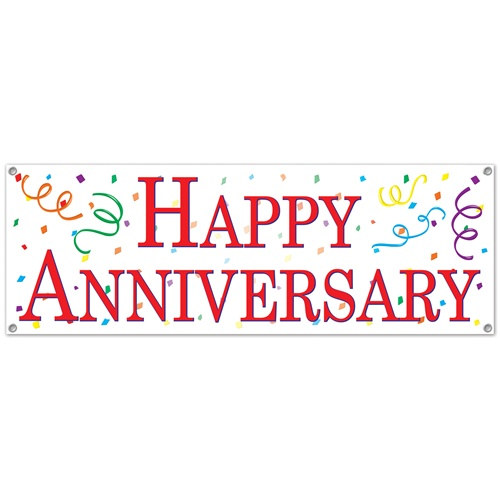 Happy Anniversary Sign Banner PartyCheap