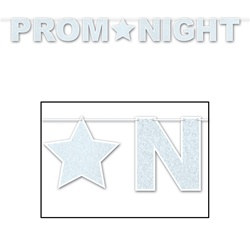 Glittered Prom Night Streamer