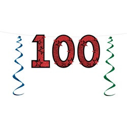 100th Glittered Streamer