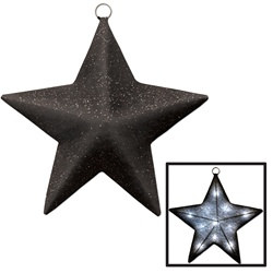 Black and Silver Light-Up Star