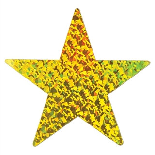 Gold Prismatic Foil Star (Choose Size)