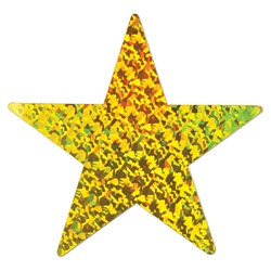 Gold Prismatic Foil Star (12 inch)