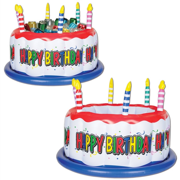 Inflatable Birthday Cake Cooler PartyCheap