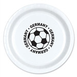 Germany Soccer Plates (8/Pkg)