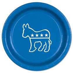 Blue Democratic Plates (8/pkg)
