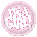 It's A Girl! Plates