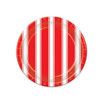 Red & White Stripes Plates