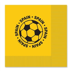 Spain Soccer Luncheon Napkins (16/Pkg)