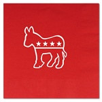 Red Democratic Luncheon Napkins (16/pkg)