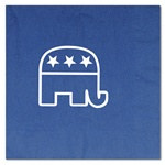 Blue Republican Luncheon Napkins (16/pkg)