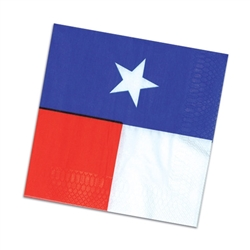 Texas State Flag Lunch Napkins (16/pkg)