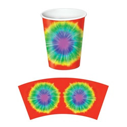 Tie-Dyed Hot/Cold Cups (8/pkg)