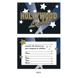 Hollywood Lights Invitations (8/pkg)