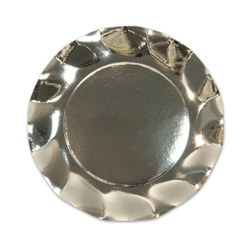 Metallic Silver Small Plates (10/pkg)