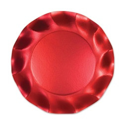 Satin Red Medium Plates (10/pkg)