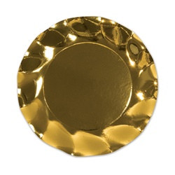 Metallic Gold Medium Plates (10/pkg)