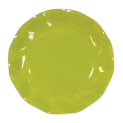 Lime Green Large Plates (10/pkg)