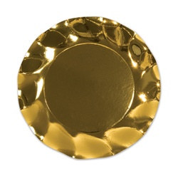 Metallic Gold Large Plates (10/pkg)