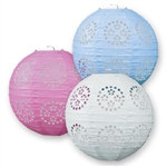 Lace Paper Lanterns 3/pkg - choose color