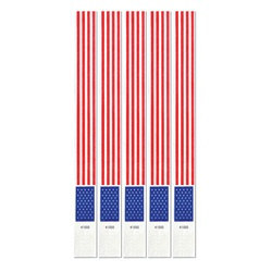 Patriotic Tyvek Wristbands (100/pkg)