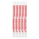 Drinking Age Verified Tyvek Wristbands (100/pkg)