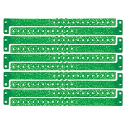 Green Plastic Sparkle Wristbands