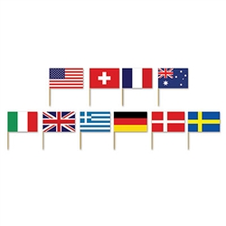 International Flag Picks (50/pkg)