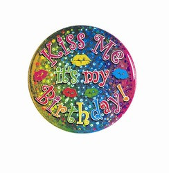 Kiss Me - It's My Birthday Button