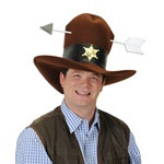 Plush Western Hat w/Arrow