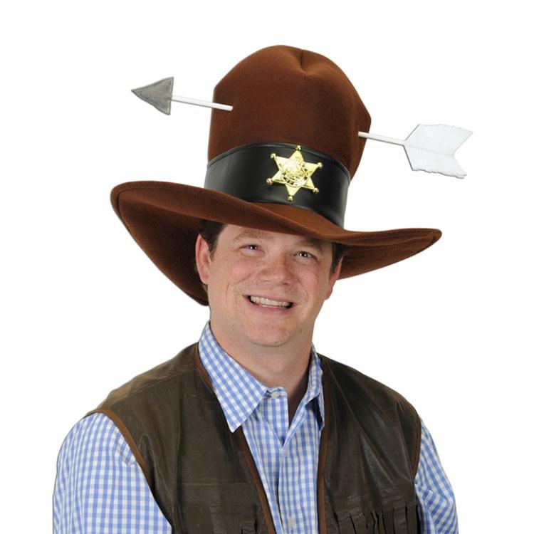 Plush Western Hat W Arrow Partycheap