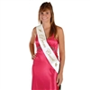 Prom Court Satin Sash