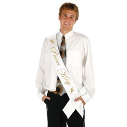 Prom King Satin Sash