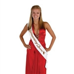 Homecoming Queen Satin Sash