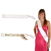 White Satin Sash