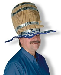 Plush Oktoberfest Barrel Hat