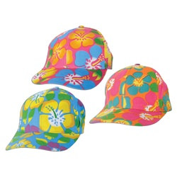Assorted Luau Ball Caps (1/pkg)