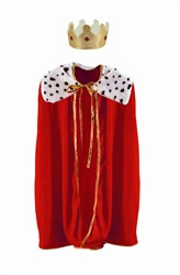 Child's Red Robe w/Crown, 33 inches
