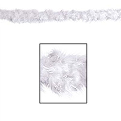 White Fancy Feather Boa