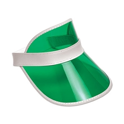 Green Plastic Dealer's Visor