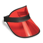 Red Plastic Dealer's Visor