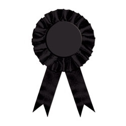 Black Rosette Award Ribbon