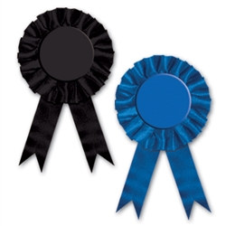 Blank Rosette Award Ribbon (Select Color)