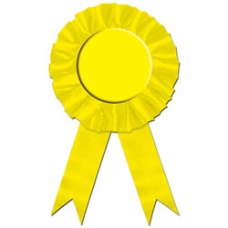 Yellow Rosette Award Ribbon