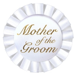 Mother of the Groom Satin Button