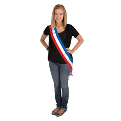 Patriotic Satin Sash