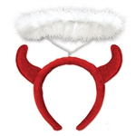 Devil Horns Headband with Halo